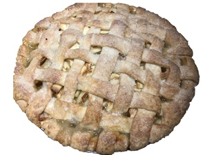 Organic Bread of Heaven Blue Ribbon Apple Pie - dairy-free, soy-free, nut-free, vegan, and made in a kosher pareve bakery