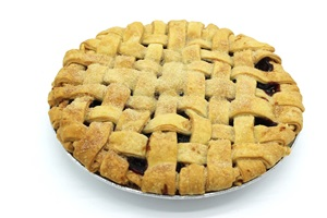 Organic Bread of Heaven Blueberry Pie - dairy-free, soy-free, nut-free, vegan, and made in a kosher pareve bakery