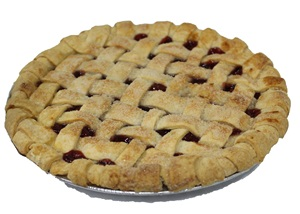 Organic Bread of Heaven Cherry Pie - dairy-free, soy-free, nut-free, vegan, and made in a kosher pareve bakery