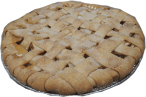 Organic Bread of Heaven Maple-Sweetened Apple Pie - dairy-free, soy-free, nut-free, vegan, and made in a kosher pareve bakery