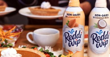 Reddi-Wip Non-Dairy Whipped Topping is Dairy-Free, Vegan, and Comes in Two Varieties. It's a convenient, easy-to-find, dairy-free spray can option.