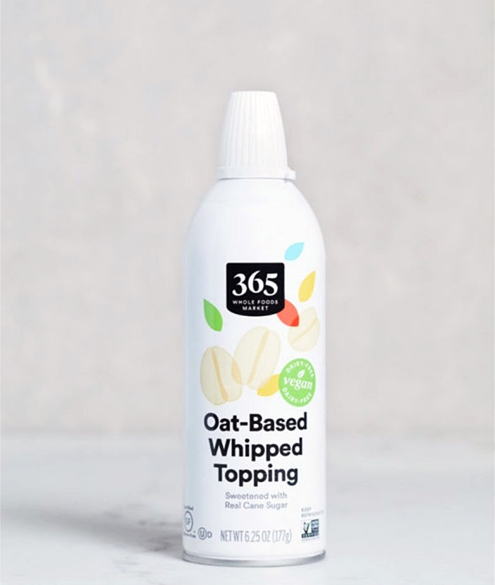365 Oat-Based Whipped Topping Reviews and Info - dairy-free, gluten-free, and vegan spray whipped cream alternative