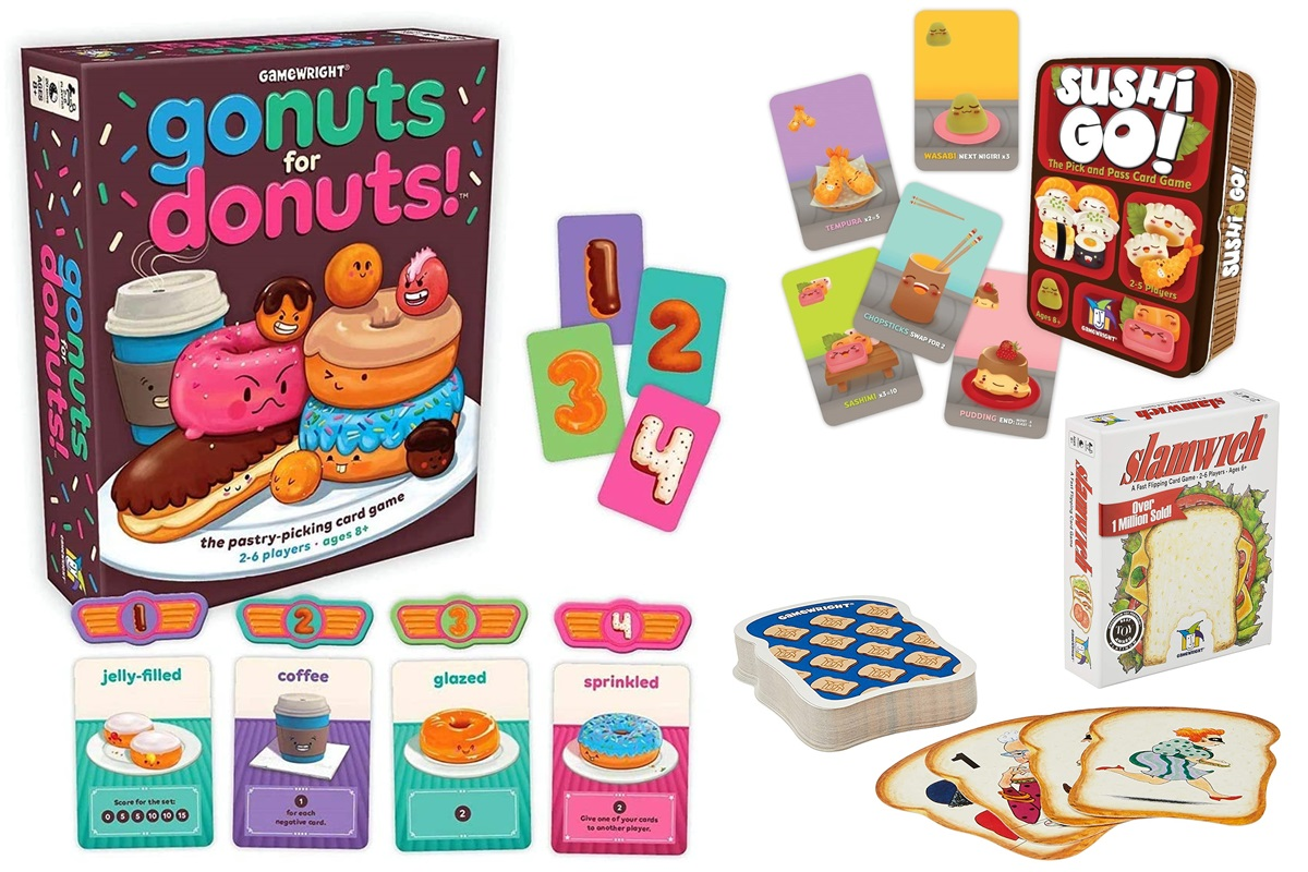 The Dairy-Free Gift Guide with Unique Ideas for Adults and Kids. Pictured: Food Games