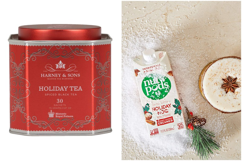 The Dairy-Free Gift Guide with Unique Ideas for Adults and Kids. Pictured: Winter Tea Collection and Vegan Nutpods Creamer