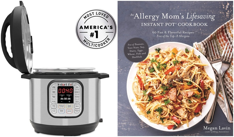 The Dairy-Free Gift Guide with Unique Ideas for Adults and Kids. Pictured: Instant Pot and Allergen-Free Instant Pot Cookbook