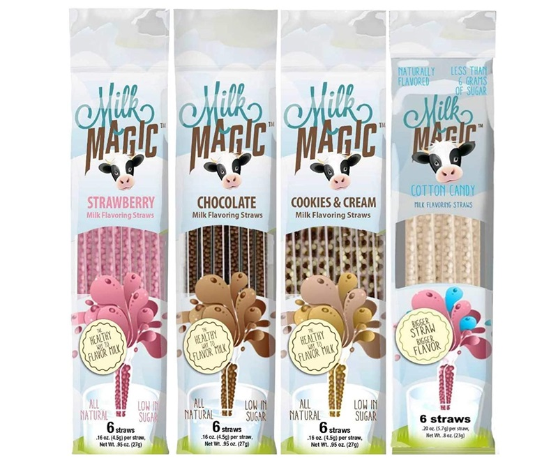 The Dairy-Free Gift Guide with Unique Ideas for Adults and Kids. Pictured: Milk Magic Straws
