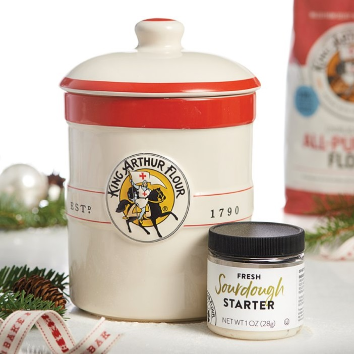 The Dairy-Free Gift Guide with Unique Ideas for Adults and Kids. Pictured: Sourdough Crock and Starter