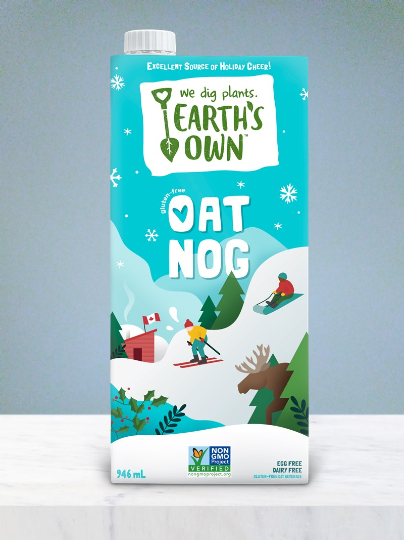 Dairy-Free Holiday Beverages - Earth's Own Oat Nog