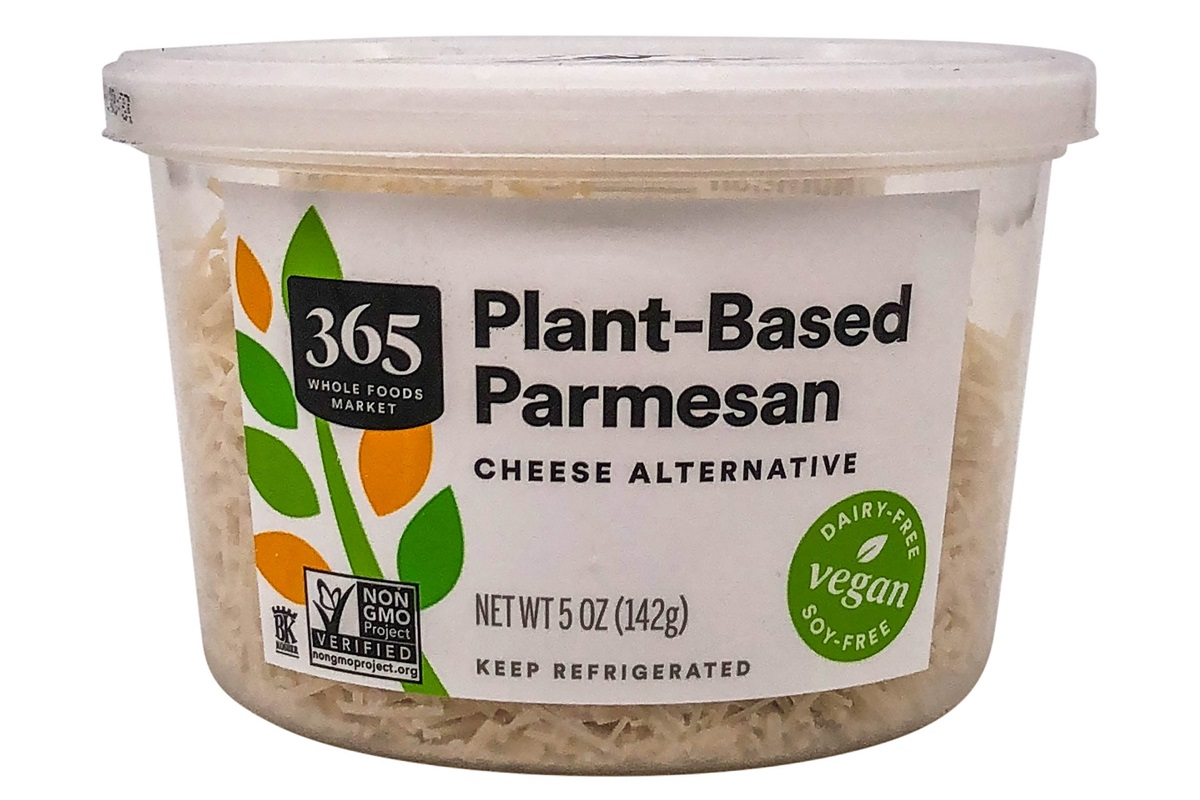 365 Plant-Based Parmesan Cheese Alternative Reviews and Info - Dairy-free and Vegan Shreds from Whole Foods. Ingredients, nutrition, and who probably produces it here ...