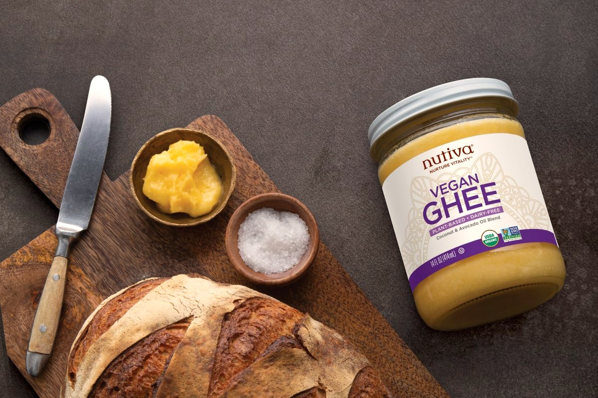 Nutiva Vegan Ghee Reviews and Info - dairy-free ghee alternative made for spreading and high-heat cooking