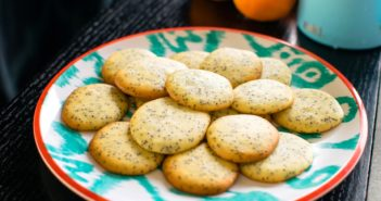 Popppy Seed Tea Cookies Recipe - naturally dairy-free, nut-free, soy-free, and butterless