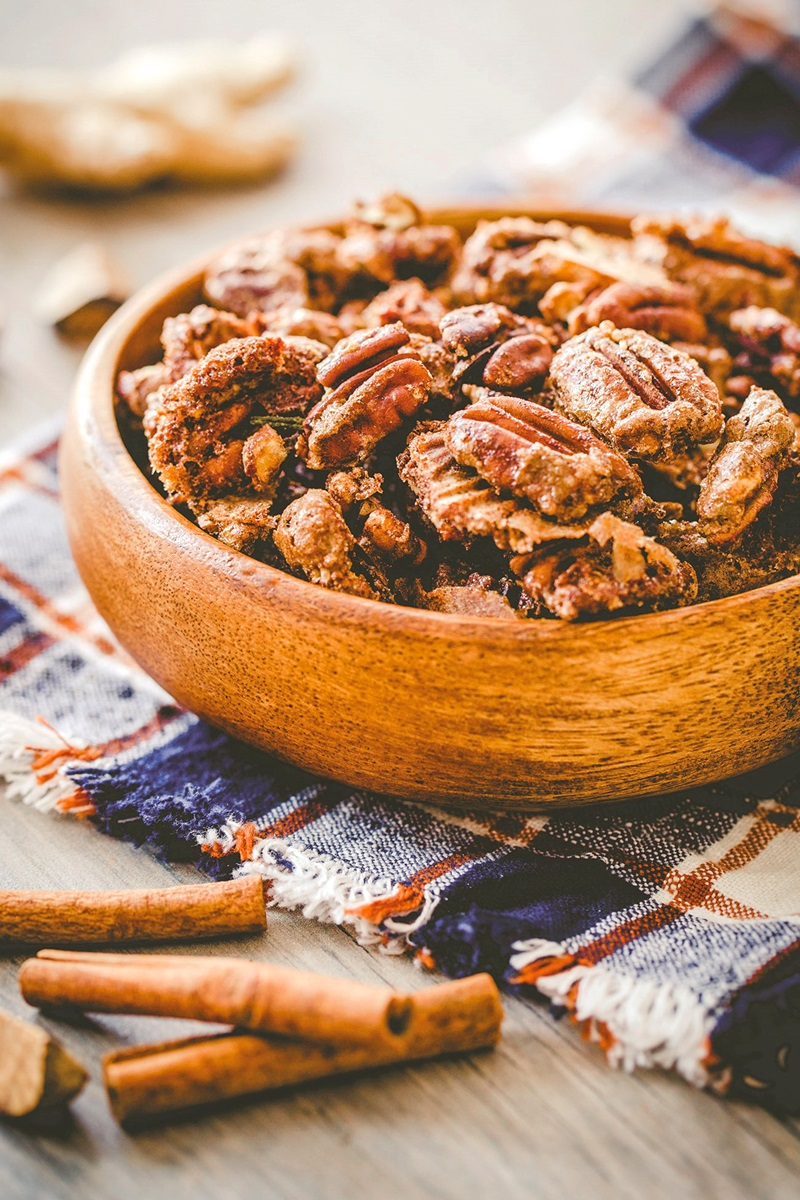 Gingerbread Candied Pecans Recipe - dairy-free and gluten-free, with vegan and paleo options.