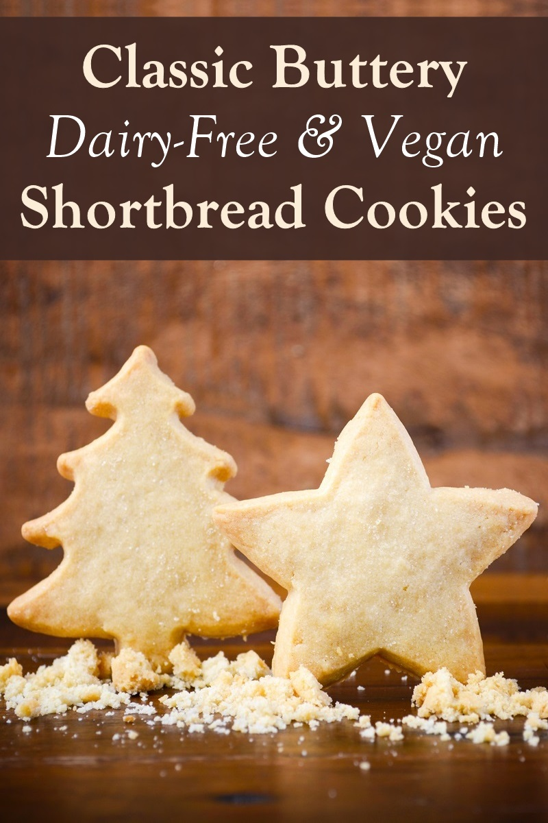 Classic Dairy-Free Shortbread Cookies Recipe with the Perfect Buttery Finish. Also happen to be vegan, nut-free, and optionally soy-free.