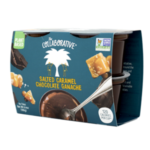 The Collaborative Chocolate Ganache Pots Reviews and Info - dairy-free, gluten-free, and vegan. Flavors include Chocolate and Salted Caramel Chocolate in the U.S. (two additional flavors in Europe)