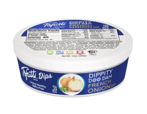 These Tofutti Dips will have You Singing a Dairy-Free Dippity DooDah - vegan, gluten-free, kosher pareve - French Onion, Garden Cucumber, Jalapeno Cheddar, Roasted Garlic