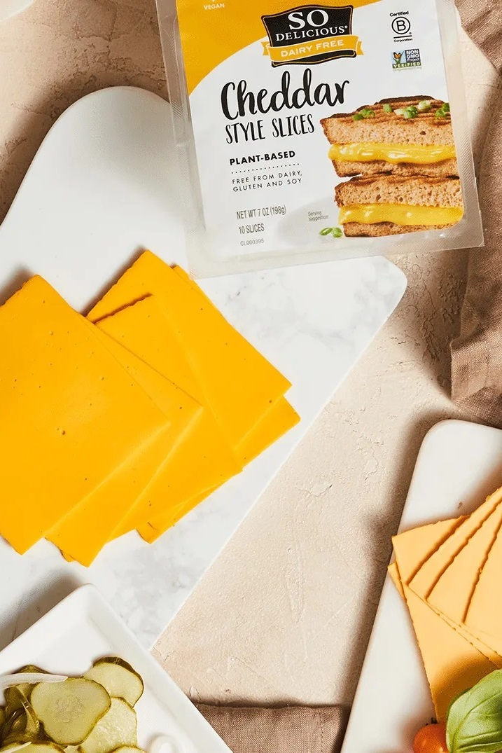 So Delicious Dairy-Free Slices Reviews and Info - Plant-Based Cheese Alternative.