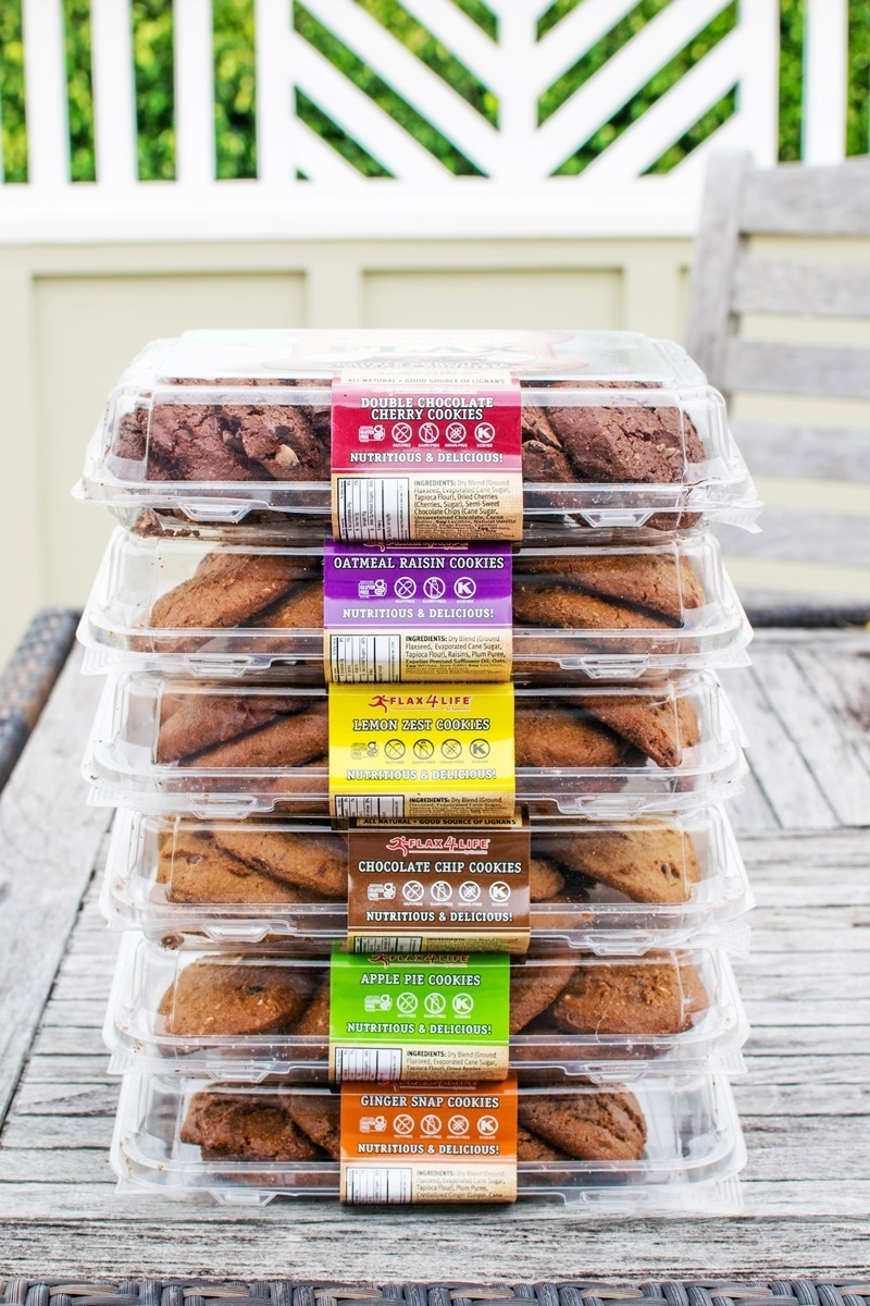 Flax4Life Cookies Reviews and Info - Dairy-Free, Gluten-Free, Grain-Free, Nut-Free, Hearty, Omega-Rich, Breakfast-Style Cookies! Six Flavors.