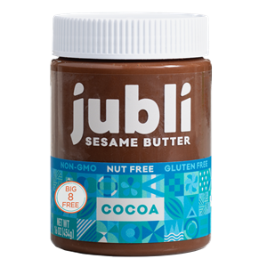 Jubli Sesame Butter Reviews and Information - Cocoa and Honey made without the top 8 allergens. peanut-free, tree nut-free, dairy-free, and more.