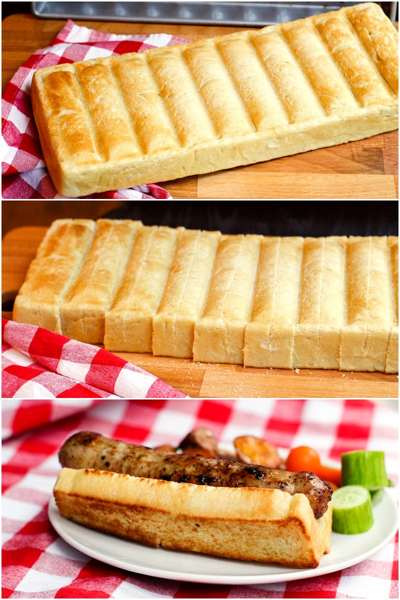 Homemade New England Hot Dog Buns Recipe - Dairy-Free, Split-Top, Great for Grilling and Loading Up!
