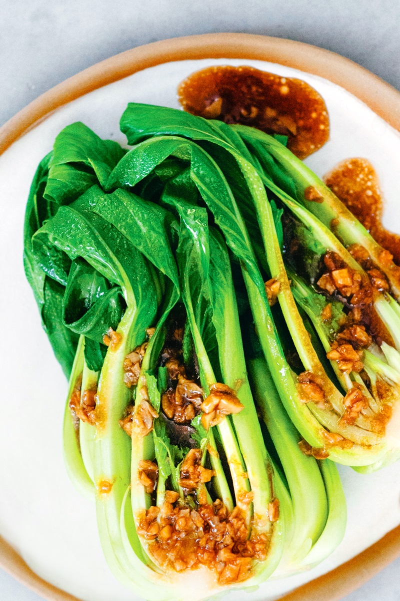 Baby Bok Choy with Garlic Soy Sauce Recipe from Food as Medicine - Dairy-Free, Optionally Gluten-Free, Plant-Based, Easy, and Healthy!