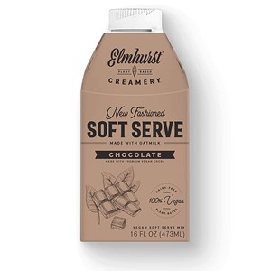"""Elmhurst Soft Serve Ice Cream Mix Reviews and Info - Dairy-Free, Vegan, """"New-Fashioned"""" Mix that's ready to pour and churn."""