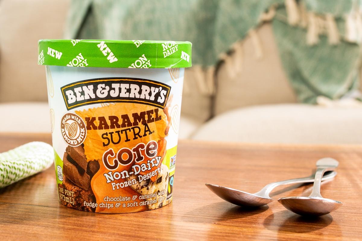 "Ben & Jerry's Non-Dairy Karamel Sutra Core - New Flavor in 2021 - First Vegan ""Core"" Flavor"