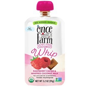 Once Upon a Farm Coconut Whip for Kids! Natural, dairy-free pouches with no added sugars. Allergy-friendly, vegan, and two flavors!