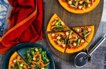 Paleo Superfood Pizzas with Sweet Potato Crust - Dairy-Free, Gluten-Free, Grain-Free with warm African Flavors