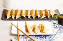 Shrimp Potstickers Recipe - A fun, delicious, Chinese favorite often known as dumplings or Jiaozi. Good luck on Chinese New Year. Naturally dairy-free.