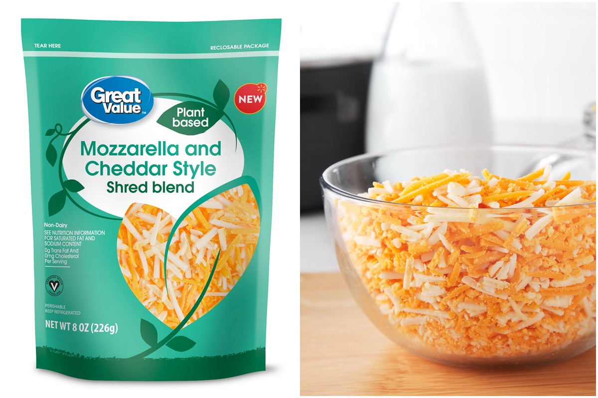 Great Value Plant Based Cheese Shreds from Walmart - Dairy-Free and Vegan Cheese Alternatives Sold in 3 Varieties