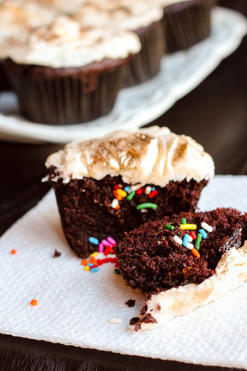 Pot o' Gold Cupcakes Recipe made Dairy-Free, Egg-Free, Vegan, and Alcohol-Free - Fun and Delicious Project with Kids! Great for St. Patrick's Day.