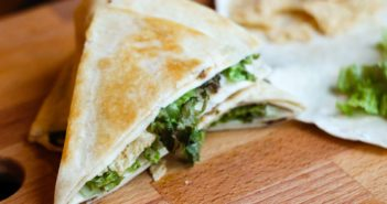 Dairy-Free Crunch Wrap Supreme Copycat Recipe - A Taco Bell favorite made dairy-free and optionally vegan (as pictured!)