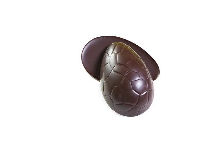 Vegan Dark Chocolate Peanut Butter Praline Eggs for Easter from Grocer's Daughter