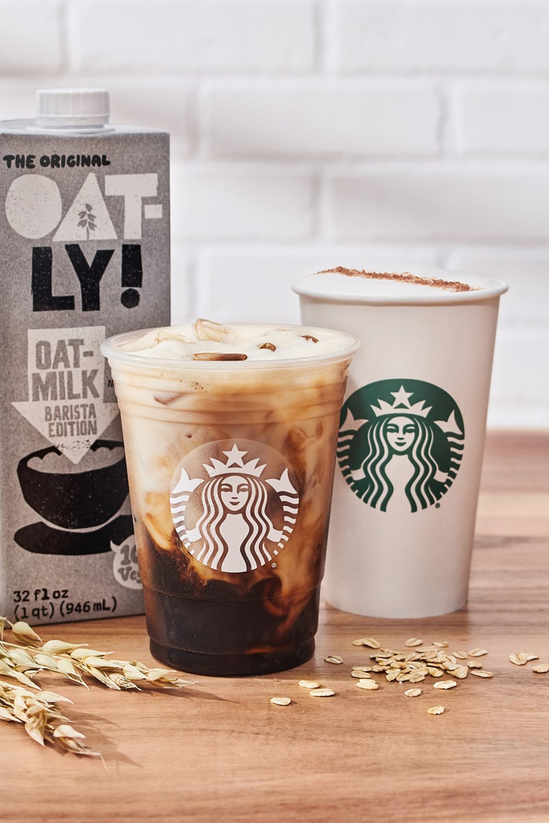 Starbucks Adds Oatmilk Nationwide and Releases New Plant-Based, Dairy-Free Drinks and Eats