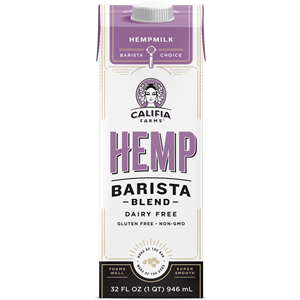 Califia Farms Barista Blends Reviews and Info - Dairy-Free, Vegan Creamer-Plant-Milk Hybrids that Steam and Foam. Hemp, Oat, Oat Mushroom, and Almond Varieties