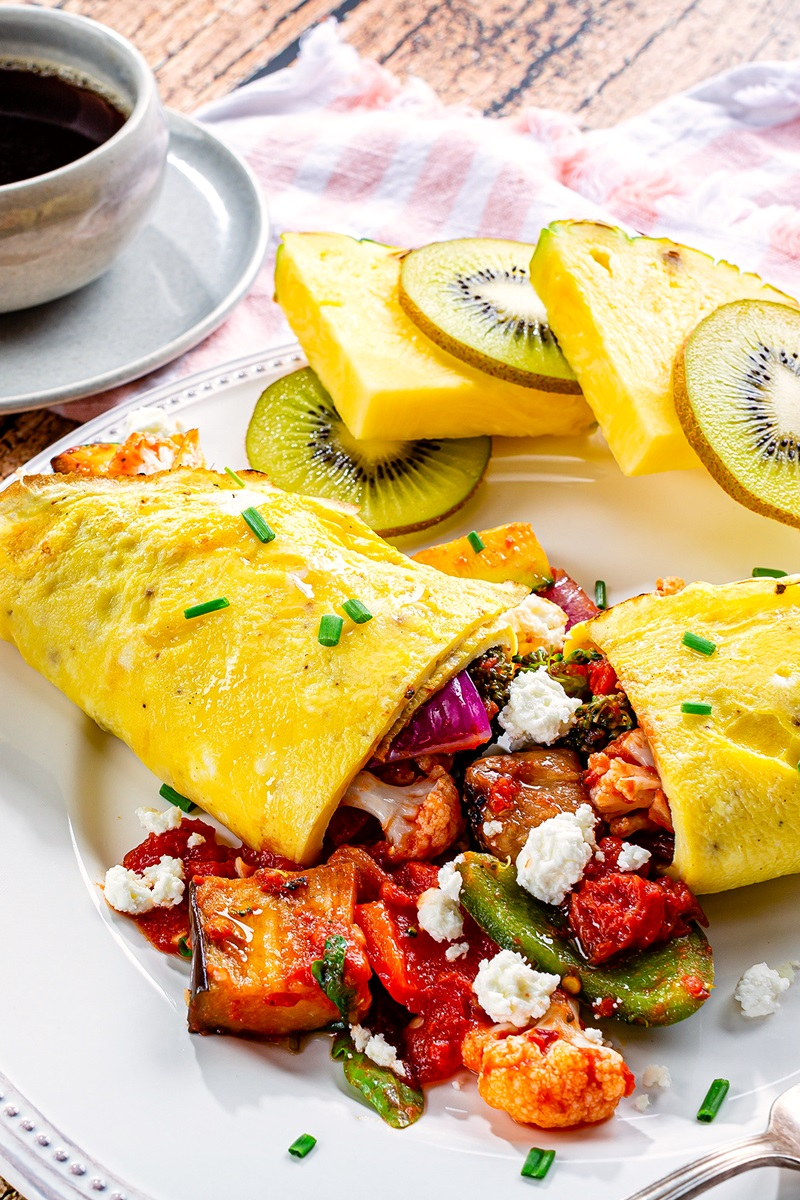 Dairy-Free Ratatouille Omelets Recipe - Gluten-Free, Grain-Free, Paleo and Healthy! Also Delicious ...