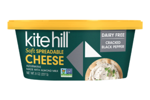 Kite Hill Soft Spreadable Cheese Alternative Reviews & Info - dairy-free, gluten-free, vegan, keto, paleo - cultured and enriched with mushroom extract, no gums.