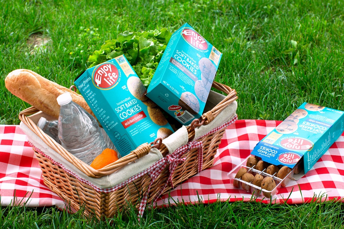 Enjoy Life Soft Baked Cookies - perfect picnic or backyard barbecue dessert - easy to pack, allergy-friendly, gluten-free, and vegan.