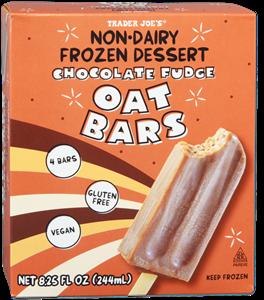 Trader Joe's Frozen Chocolate Fudge Oat Bars Reviews & Info (Dairy-Free, Non-Dairy, Vegan, Soy-Free)