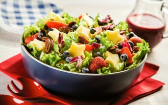 Mixed Berry Green Salad with Blueberry Balsamic Vinaigrette Recipe - Fresh, Healthy, Paleo, Plant-Based, Dairy-Free