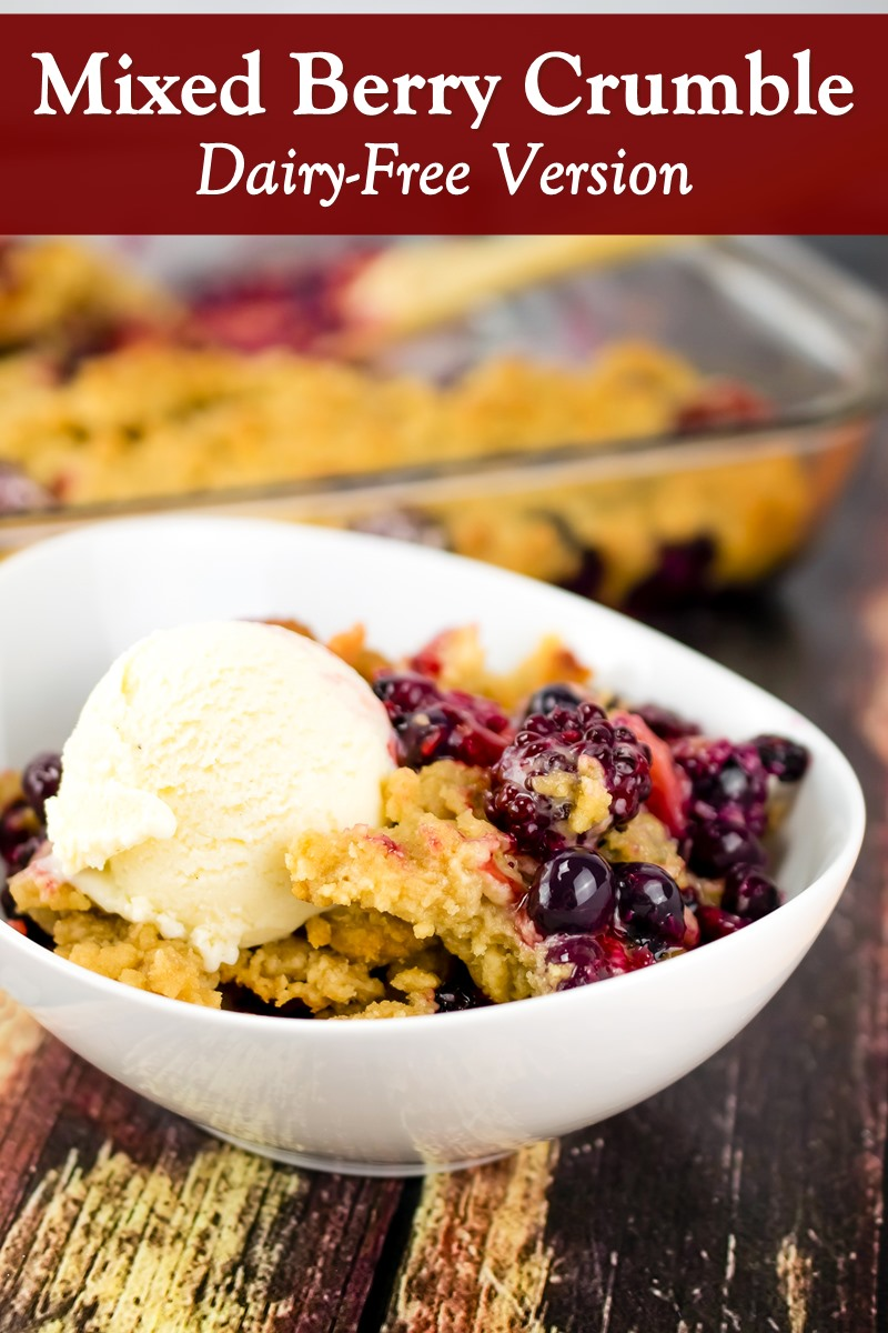 Mixed Berry Crumble Recipe - dairy-free, nut-free, soy-free, vegan, and gluten-free option