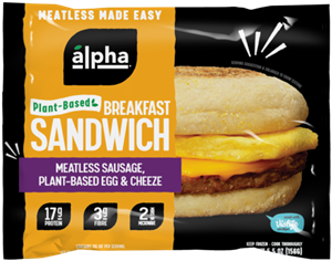 Alpha Breakfast Sandwiches are Ready to Dominate Your Morning Meals - Plant-Based, Vegan, Dairy-Free - Reviews and Info