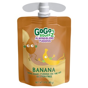 GoGo squeeZ AlmondBlend Pudding Reviews and Info - Plant-Based, Vegan, Gluten-Free and Dairy-Free by ingredients. Shelf-stable, higher in protein and calcium, lower in sugar