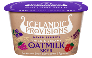 Icelandic Provisions Oatmilk Skyr Reviews and Info - Dairy-free, Plant-Based, Vegan Skyr - like yogurt, but thicker, creamier, richer, and less tart.