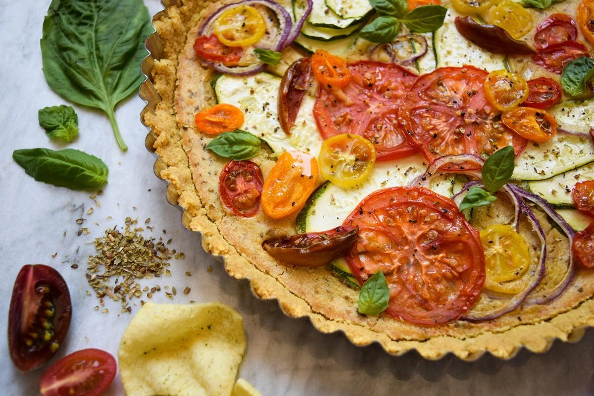 Plant-Based Zucchini Tomato Tarte Recipe