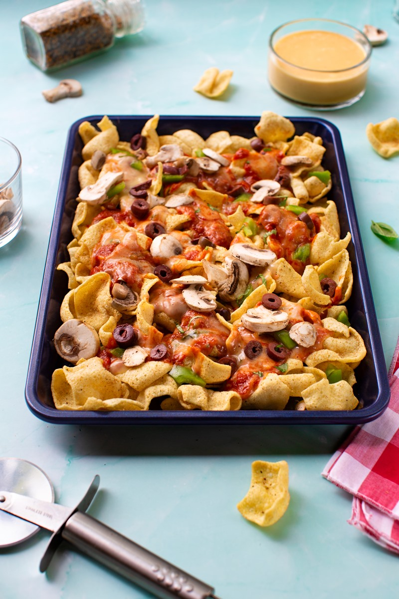 Margherita Pizza Dip Recipe - Dairy-free, Plant-Based, Vegan-Friendly, Top Allergen-Free. Two Dip Recipes in One! Plus bonus option for Allergy-Friendly Pizza Nachos.