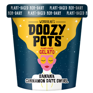 Doozy Pots Plant-Based Gelato Reviews and Info - A sustainable dairy-free frozen dessert made with hemp, oat, and organic cane sugar. From Wonderlab.