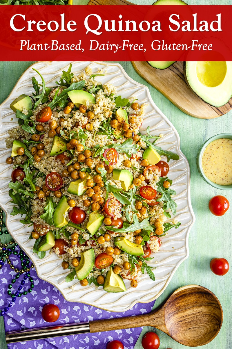 Creole Quinoa Salad Recipe - dairy-free, gluten-free, plant-based, and healthy! Inspired by The Princess and The Frog movie