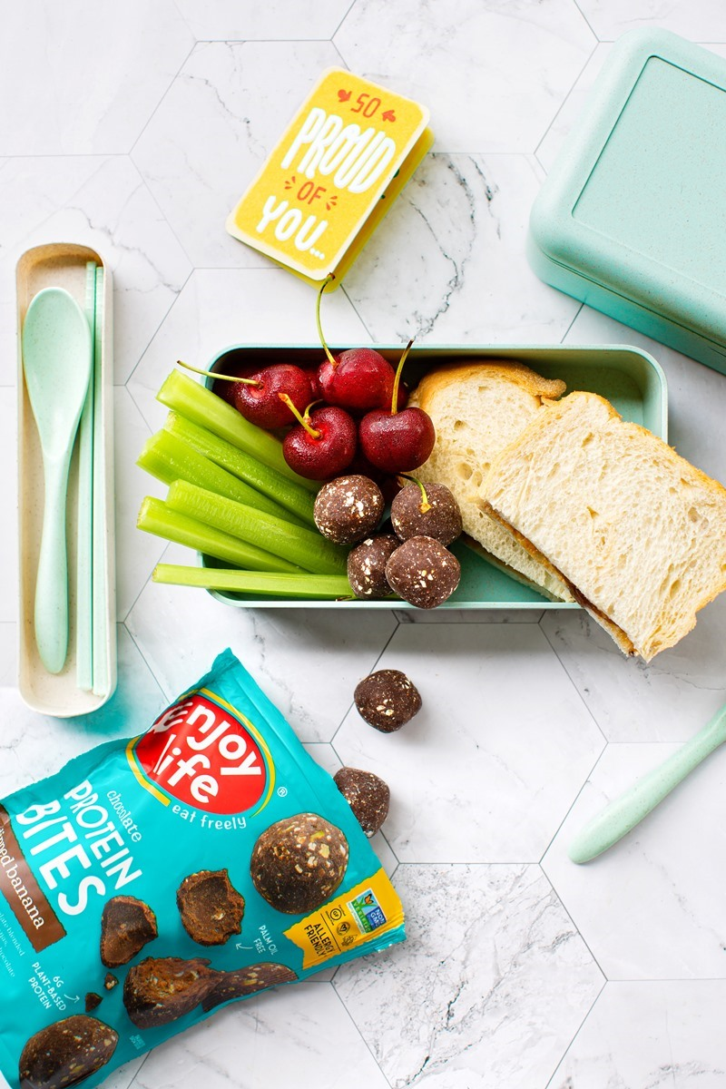 Enjoy Life Chocolate Protein Bites are Better-for-You Truffles that let you Indulge in Allergy-Friendly Protein - plant-based, vegan, gluten-free, dairy-free, egg-free, nut-free, peanut-free, soy-free, sesame-free, coconut-free, and even pea protein-free!