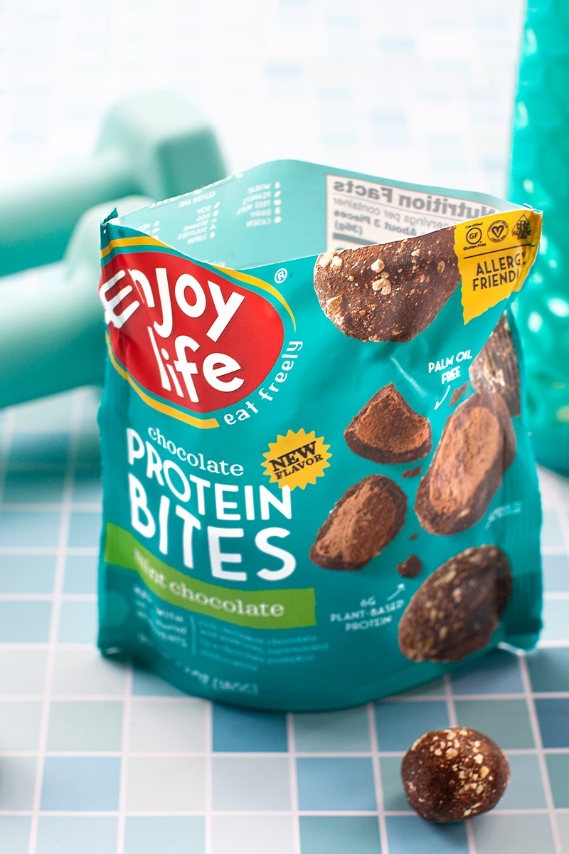 Enjoy Life Chocolate Protein Bites are Better-for-You Truffles that let you Indulge in Allergy-Friendly Protein - plant-based, vegan, gluten-free, dairy-free, egg-free, nut-free, peanut-free, soy-free, sesame-free, coconut-free, and even pea protein-free! New: Mint Chocolate Flavor